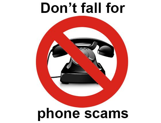 Don't fall for phone scams